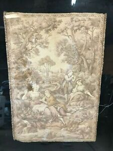 Antique French Tapestry Romantic Paris Shabby Chic