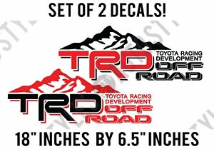 Toyota Trd Truck Mountain Off Road Racing Tacoma Decal Custom Stickers Identical