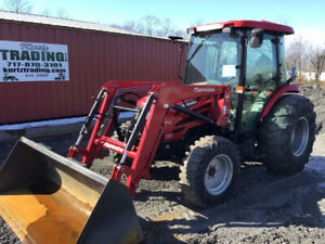 2017 Mahindra 2565 4x4 Compact Tractor W Cab Loader Only 600hrs