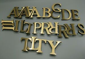 Lot Of 26 Pc Bronze Or Brass 3d Letters Industrial Architectural Salvage 3 Tall