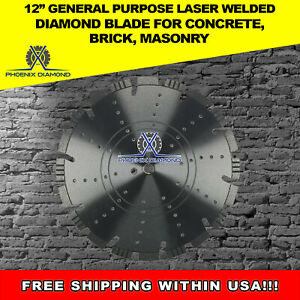 15mm 12 General Purpose Laser Welded Diamond Blade For Concrete Brick masonry