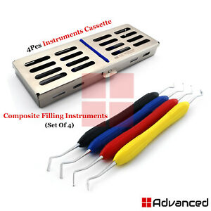 Silicone Handle Composite Filling Instruments Restorative With Cassette Tray Box