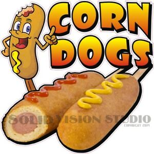 Corn Dogs Hot Dog Food Sales Concession Trailer Truck Vinyl Sticker Menu Decal