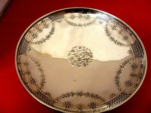 Heavy Tiffany Co Makers Vintage Ornate Sterling Footed Silver Bowl Dish