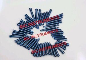 Locking safety Lock Titanium Blue 2 4mm Hex Screws Self Tapping 50 Pcs