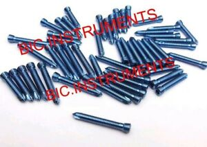 Locking safety Lock Titanium Blue 2 4mm Hex Screws Self Tapping 100 Pcs