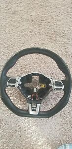 Volwagen Golf Gti 2013 Oem Flat Bottom Steering Wheel