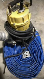 Wacker 2 Submersible Water Pump With 50 Discharge Hose