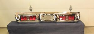 Restored 1971 71 Gtx Satellite Sebring Taillight Assembly Rechromed Rear Bumper
