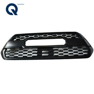 New Front Bumper Hood Grill Matte Black For 2016 2018 Toyota Tacoma Trd Pro