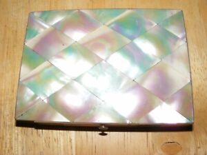 Mother Of Pearl Card Case Antique Nice Item Circa 1900 Collectable Nice Display