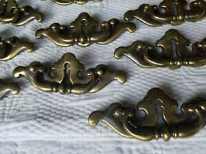 Lot Of 8 Large 1985 Vintage 6 Brass Drawer Handles Pulls Hardware Knobs