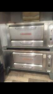 Used Blodgett 1048 Double Gas Double Deck Pizza Bake Oven 1670