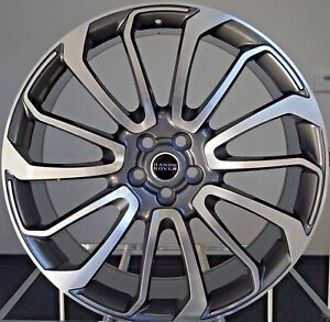 22 Fits Range Rover Autobiography Wheels Hse Sport Land Rover Rims Machine Gray