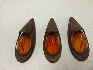 Vintage Dietz Pickup Truck Cab Roof Clearance Amber Lights