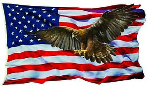American Flag Golden Eagle V2 Decal X Large 36 Free Shipping