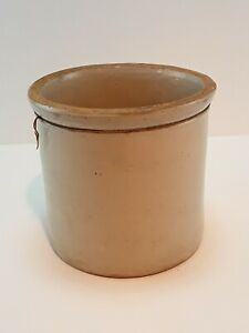Old Farm Canning Tie String Stoneware Crock 1 5 Gallon Size