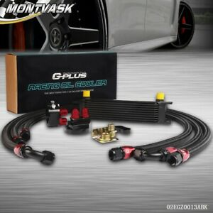 Gplus Universal 10 Row 10an Engine Oil Cooler Black Filter Relocation Kit