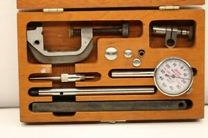 Lufkin 399a 399 Universal Dial Test Indicator Set Accessories In Wooden Case