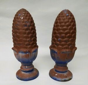 Antique Fence Post Finial Cast Iron Pine Cone