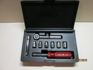 Sk Tools 10pc 1 4 Sae Socket Set In Blow Molded Case Usa