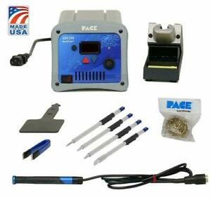 Pace Ads200 Accudrive High powered Soldering Station With 4 Tip Bundle