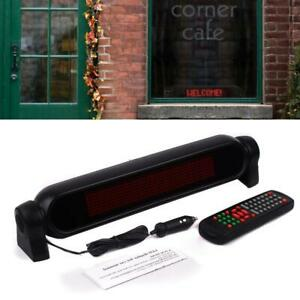 Led Car Sign Programmable Video Plate Scrolling Information Display