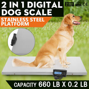660lb Digital Livestock Vet Scale Hog Pet Dog Sheep Kg oz lb Overload Disconnect