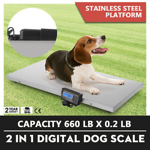 660lb Digital Livestock Vet Scale Hog Pet Dog Sheep Scale Goat Scale Indicator