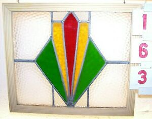 Antique Leaded English Stained Glass Window
