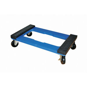 Milwaukee Furniture Moving Dolly 1000 lb Load Heavy Duty Solid Rubber Blue Resin