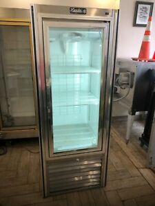 Used Leader 30 Commercial Freezer Case With Swing Glass Doors self contained