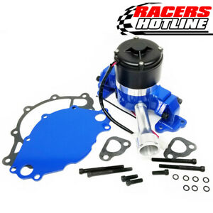 Racers Hotline Ford 302 351w Sbf Racing Electric Water Pump Blue