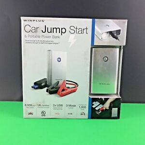 Winplus Car Jump Start Portable Power Bank Flashlight Silver In Box Zaki66v