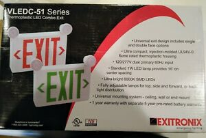 Exitronic Thermoplastic Led Combo Exit Light Vledc 51 Series