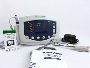Welch Allyn Vital Signs Monitor 53ntp W Printer All Accessories New Battery