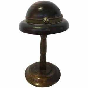 English Doll S Wood Hat Form Mold On Stand Circa 1920 1940s 3503