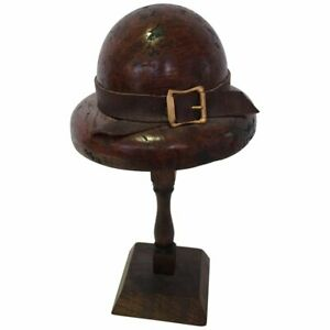 English Doll S Wood Hat Mold On Stand Circa 1920s 1940s 199