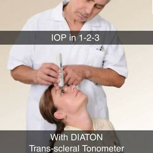 Diaton Tonometer Pen New Tonometry Through Eyelid Noncontact Glaucoma Eye Test