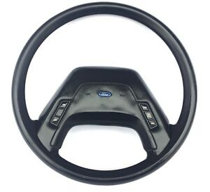 85 86 87 88 Ford F 150 F 250 Truck Steering Wheel Black Cruise Control Horn Pad
