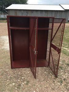 Double Vintage Lyon Locker Athletic Football Gym School 5 X 48 X 18 Metal