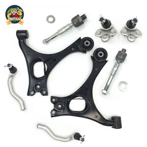 8 Pc For Honda Civic 1 8l Engine Control Arms Tie Rod Ends Lower Ball Joints