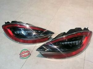 Porsche 981 Gts Boxster Cayman Genuine Taillight Tail Light Rear Lamp Euro Pair