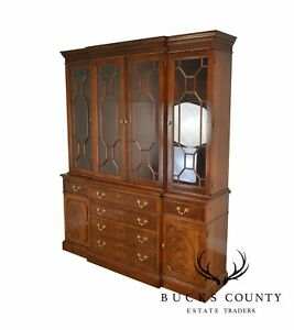 Stickley Chippendale Style Large Mahogany Breakfront