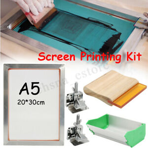 A5 43t 5pcs set Screen Printing Aluminum Frame hinge Clamp emulsion Coater squee