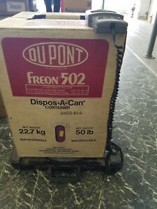 Dupont R502 502 Refrigerant Freon Full 50 Lb Pound Tank Jug New In Box Sealed