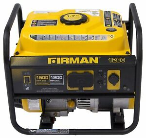 Firman 1500 watt Quiet Portable Gas Powered Generator Home Rv Camping Tailgating
