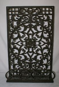 Cast Iron Grate Vent Cover Large Rectangular 28 Rustic Brown Wall Art Window