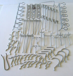 66 Pieces Assorted Metal Pegboard Tool Hooks Hangers