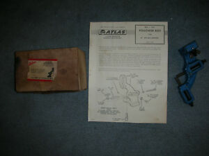New Old Stock Atlas Craftsman 6 Inch Swing Lathe M6 396 Follower Rest box papers